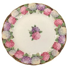 Vintage PARAGON Side Plate Fine White Bone China Floral HYDRANGEA England