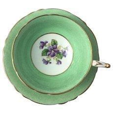Paragon Tea Cup & Saucer China England Purple Violets Flower Fine