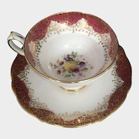 Hammersley Tea Cup and Saucer England Fine Porcelain