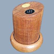 Teak Wood Salt & Pepper Shakers Mid Century Danish Modern