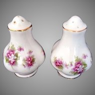 Vintage Royal Albert Salt & Pepper Bone China England Floral Flower Pattern S&P