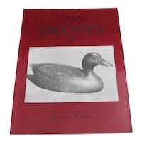 Ontario Decoys Book II Bernie Gates Carved Wood Bird Duck Carvers Hunting