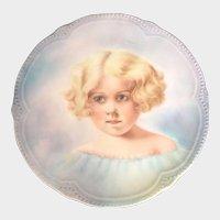 Antique Portrait Plate Victorian Art Nouveau