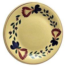 TG Green England Pottery Plate Spatterware Spongeware Primitive Hand Painted Plate