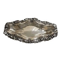 Antique Pairpoint Art Nouveau Silverplate Serving Tray / Dish Victorian Bread Platter