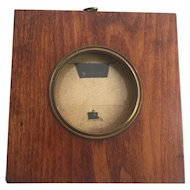 Antique Portrait Miniature Painting Picture Frame 19th Century Wood Brass Convex Glass