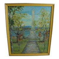 Lillian HINGSTON Oil Painting Art Landscape Monument Montreal