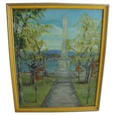Lillian HINGSTON Oil Painting Art Landscape Monument Montreal