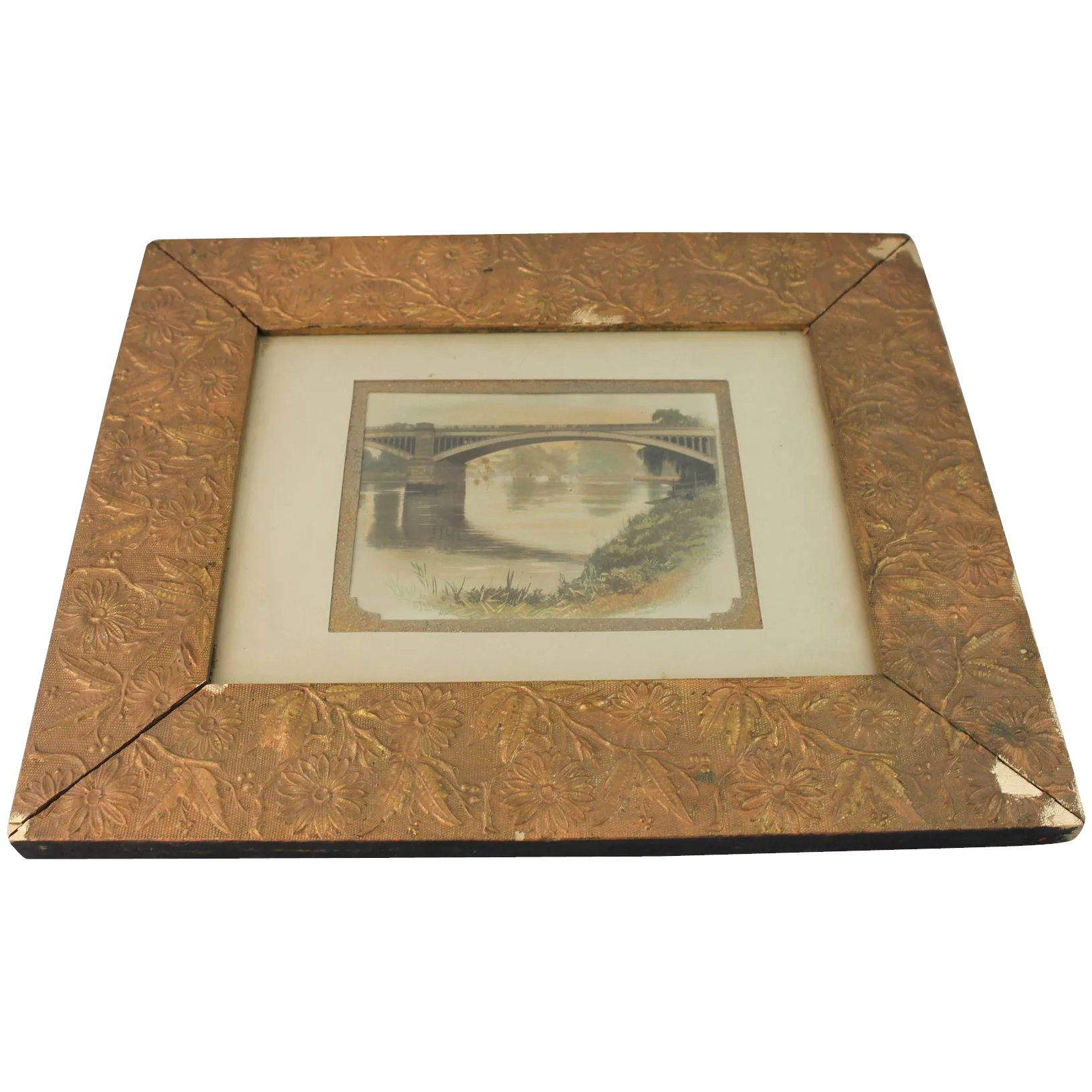 Aesthetic Movement Picture Mirror Frame Gesso Gold Painting 1880 David Lesurf Antiques And Art Ruby Lane