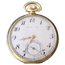Mappin & Webb Mens Gold Filled Pocket Watch Art Deco