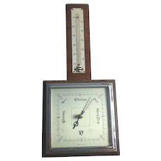 Art Deco Barometer Smiths England Wood Chrome