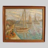 Hildegarde Hamilton Oil Painting Canvas Art  American Impressionist Listed