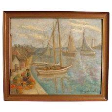 Hildegarde Hamilton Oil Painting Canvas 1966 Art  American Impressionist Listed Framed