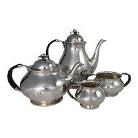 COHR Denmark Silver Plate Tea Coffee Set Mid Century Modern