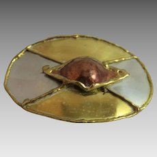 Vintage Belt Buckle Modernist Brutalist 1970's Jewelry Brutalism Modernism Mid Century Modern Style Fashion