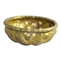Georg Mendelssohn Hammered Brass Bowl Arts & Crafts Movement