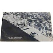 RPPC Postcard Waltham Watch Company Factory Massachusetts Vintage Real Photo