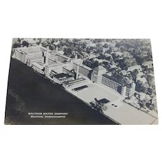RPPC Postcard Waltham Watch Company Factory Massachusetts Vintage Real Photo