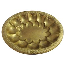 Georg Mendelssohn Arts & Crafts Movement Brass Platter Tray Dish Vintage