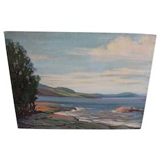 Oil Painting Anne Jaffray Ziegler Canadian Group Style Art Canada Northern Ontario Shoreline Vintage