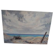 Oil Painting Anne Jaffray Ziegler Canadian Group Style Art Canada Sand Beach