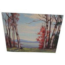 Oil Painting Anne Jaffray Ziegler Canada Temagami ON Ontario Landscape Fall Trees