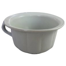 Rare St. Johns PQ Quebec Ironstone Stone Chinaware Co. Antique White Chamber Pot Victorian Pottery