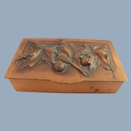 Art Deco Copper Box Signed Gilles Repousse Humidor Cigarette Decorative Storage