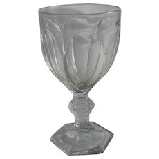 """Baccarat France Crystal Harcourt 6 1/4"""" Goblet Glass Vintage Unsigned Pre 1930's Wine Water Drinking Barware"""