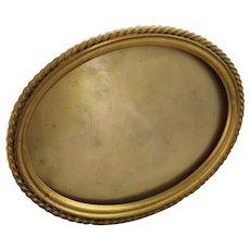 Dore Bronze Picture Frame Easel Back Oblong Photo Vintage Antique