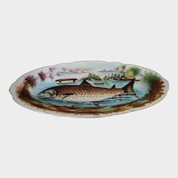 Antique Fish Platter Large Serving Decorative Plate Tray Victorian