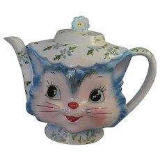 Vintage Lefton Miss Priss Teapot Figural Cat Mid Century Modern ESD Japan Tea Pot Kitsch 1950's Kitty