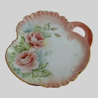Hand Painted Roses Porcelain Plate