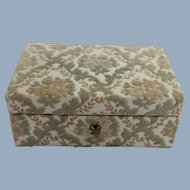 Jewelry Box Italy Floral Brocade for Marshall Field & Co. Vintage
