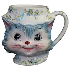 Vintage Lefton Miss Priss Mug Figural Cat Mid Century Modern ESD Japan Coffee Tea Cup Kitsch 1950's Kitchenware Kitchen Decor