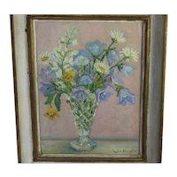 Art Oil Painting Hingston Lillian Canadian Art Still Life Canada Listed Artist Flowers Floral