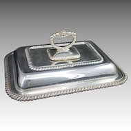 Sheffield Silverplate Serving Dish with Lid Covered England Silver Plate Server Vintage Active