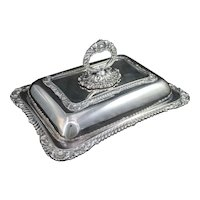 Birks Regency Silverplate Covered Serving Dish Entree Silver Plate Server with Lid Vintage