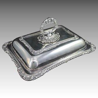 Vintage Birks Regency Silverplate Covered Serving Dish Entree