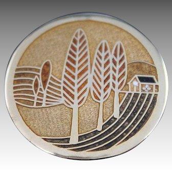 de Passille - Sylvestre Brooch Quebec MODERNIST Enamel Jewelry Pin Vintage Mid Century