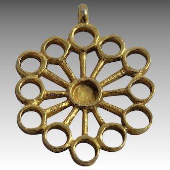 Robert Larin Jewelry Pendant Brutalist Modernist Style Mid Century Modern Designer Signed Vintage