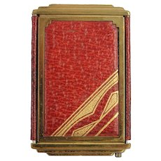 Art Deco Compact Vintage Fashion Accessory Geometric Design Makeup Cosmetic Tool Vanity Mirror
