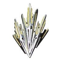 Trifari Brooch Modernist Brutalist Costume Fashion Jewelry Pin