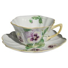 Shelley Pansy Cup & Saucer England Fine Bone China