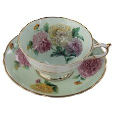 Paragon Tea Cup & Saucer Chrysanthemum Fine Bone China England