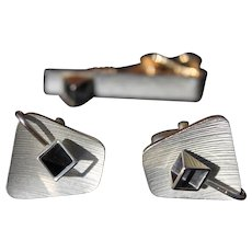 Men's Cufflinks Mid Century Retro Atomic Geometric Fashion Jewelry