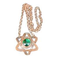 Modernist Raphael Alfandary Necklace - Star of David Copper Murano Glass - Jewelry Canada