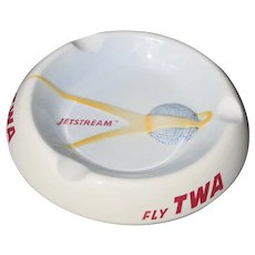 Rare TWA Jetstream Ashtray Mid Century Modern MCM Atomic Age