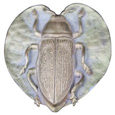 Hat Pin Scarab Beetle Heart Lily Antique Art Nouveau Aesthetic Movement Victorian Fashion