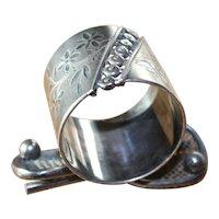 Rare Tennis Silverplate Figural Napkin Ring Meriden & Co. Antique Victorian